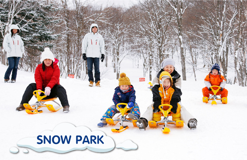 snow park at Kiroro